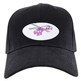 Pink Helicopter Baseball Hat