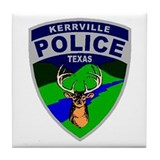 Kerrville Police Tile Coaster