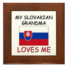 My Slovakian Grandma Loves Me Framed Tile