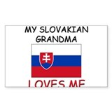 My Slovakian Grandma Loves Me Rectangle Decal