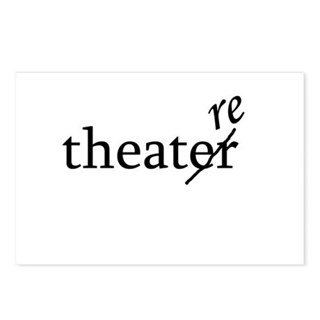 "Theatre Spelled ""re"" Postcards (Package of 8)"