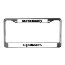 Cute Statistician License Plate Frame