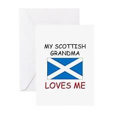 My Scottish Grandma Loves Me Greeting Card