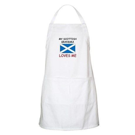 My Scottish Grandma Loves Me BBQ Apron