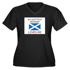 My Scottish Grandma Loves Me Women's Plus Size V-N