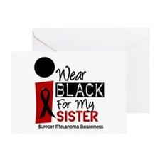 I Wear Black For My Sister 9 Greeting Card