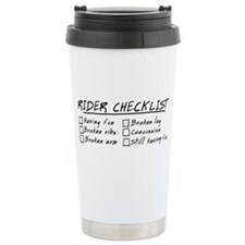 Horse Rider Checklist Ceramic Travel Mug