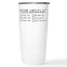 Horse Rider Checklist Travel Mug