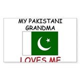 My Pakistani Grandma Loves Me Rectangle Decal
