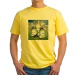 Owl Pigeons In Field Yellow T-Shirt