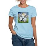 Owl Pigeons In Field Women's Light T-Shirt