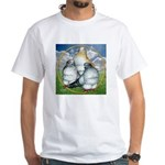 Owl Pigeons In Field White T-Shirt