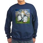 Owl Pigeons In Field Sweatshirt (dark)