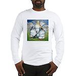 Owl Pigeons In Field Long Sleeve T-Shirt
