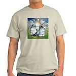 Owl Pigeons In Field Light T-Shirt