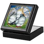 Owl Pigeons In Field Keepsake Box