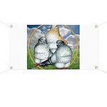 Owl Pigeons In Field Banner