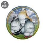 """Owl Pigeons In Field 3.5"""" Button (10 pack)"""