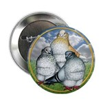 """Owl Pigeons In Field 2.25"""" Button"""