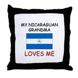 My Nicaraguan Grandma Loves Me Throw Pillow