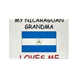 My Nicaraguan Grandma Loves Me Rectangle Magnet