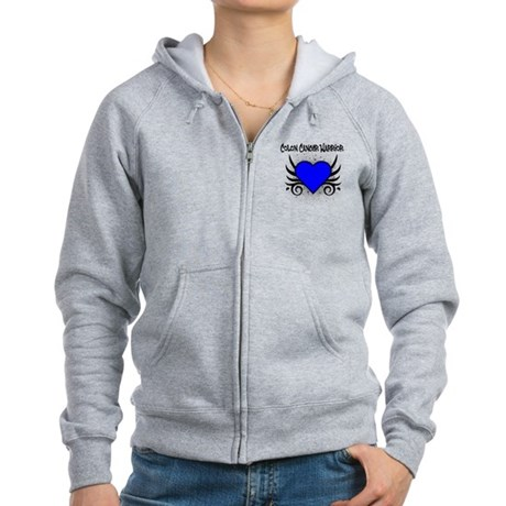 Colon Cancer Warrior Women's Zip Hoodie
