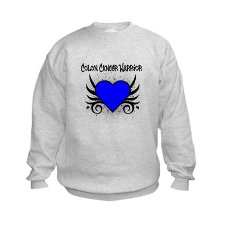 Colon Cancer Warrior Kids Sweatshirt
