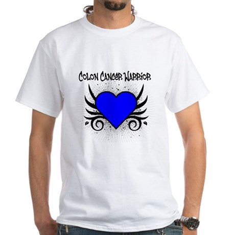 Colon Cancer Warrior White T-Shirt