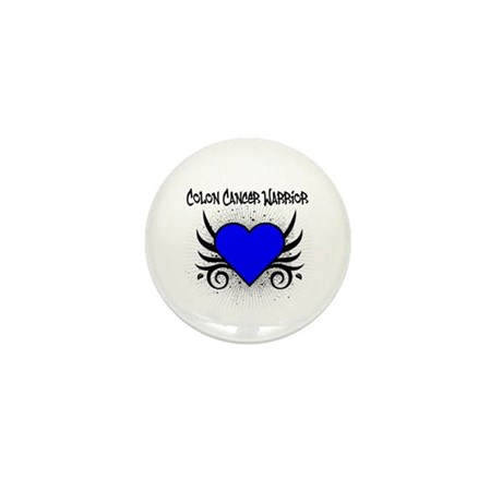 Colon Cancer Warrior Mini Button