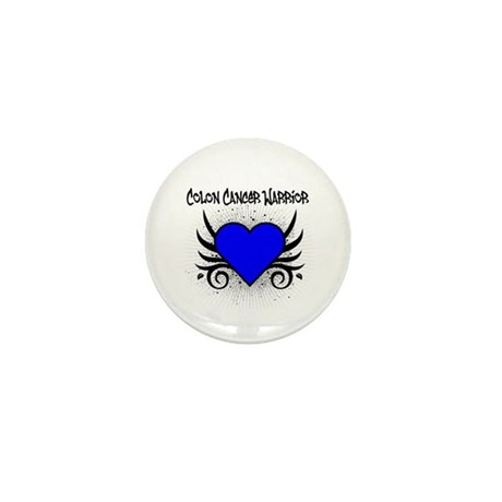 Colon Cancer Warrior Mini Button (10 pack)