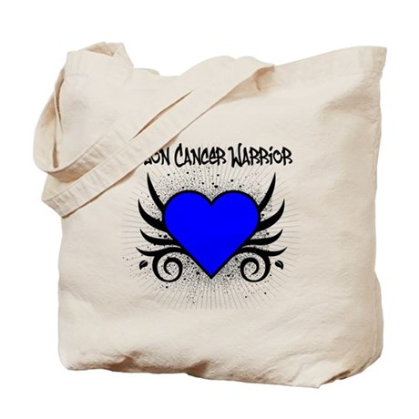 Colon Cancer Warrior Tote Bag