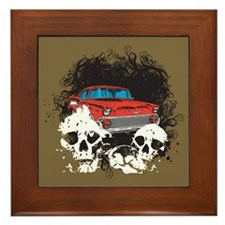 Bel Air Skulls Framed Tile