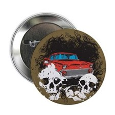 "Bel Air Skulls 2.25"" Button"