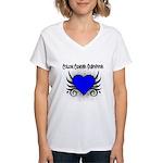 Colon Cancer Survivor Women's V-Neck T-Shirt