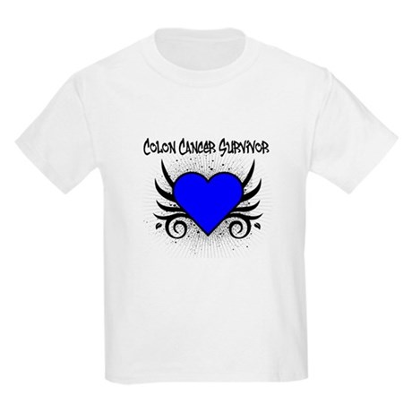 Colon Cancer Survivor Kids Light T-Shirt