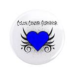 """Colon Cancer Survivor 3.5"""" Button (100 pack)"""