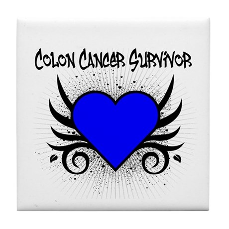Colon Cancer Survivor Tile Coaster