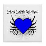 Colon Cancer Survivor Tile Coaster