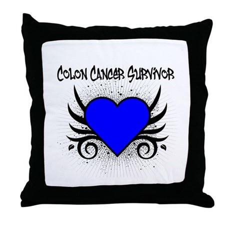 Colon Cancer Survivor Throw Pillow