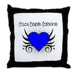 Colon Cancer Survivor Throw Pillow