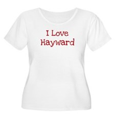 I love Hayward Women's Plus Size Scoop Neck T-Shir