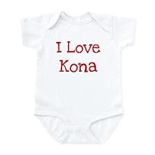 I love Kona Infant Bodysuit