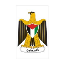 Palestinian Coat of Arms Rectangle Decal