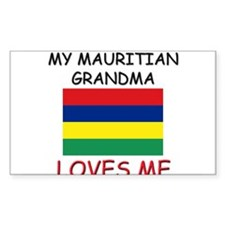 My Mauritian Grandma Loves Me Rectangle Stickers