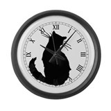 Black Cat Classic Large Wall Clock