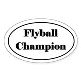 Flyball Champion Decal
