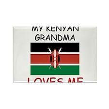 My Kenyan Grandma Loves Me Rectangle Magnet (10 pa