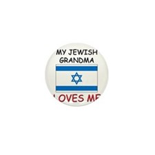 My Jewish Grandma Loves Me Mini Button (10 pack)