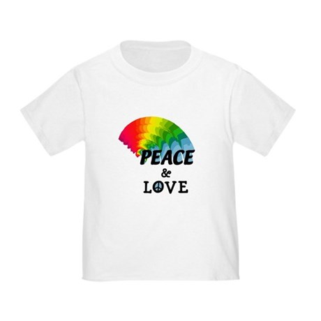 Rainbow Peace and Love Toddler T-Shirt