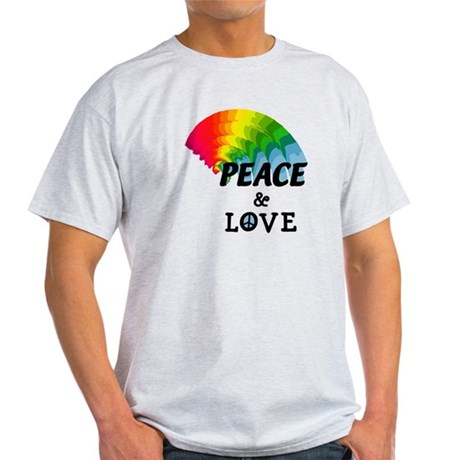 Rainbow Peace and Love Light T-Shirt